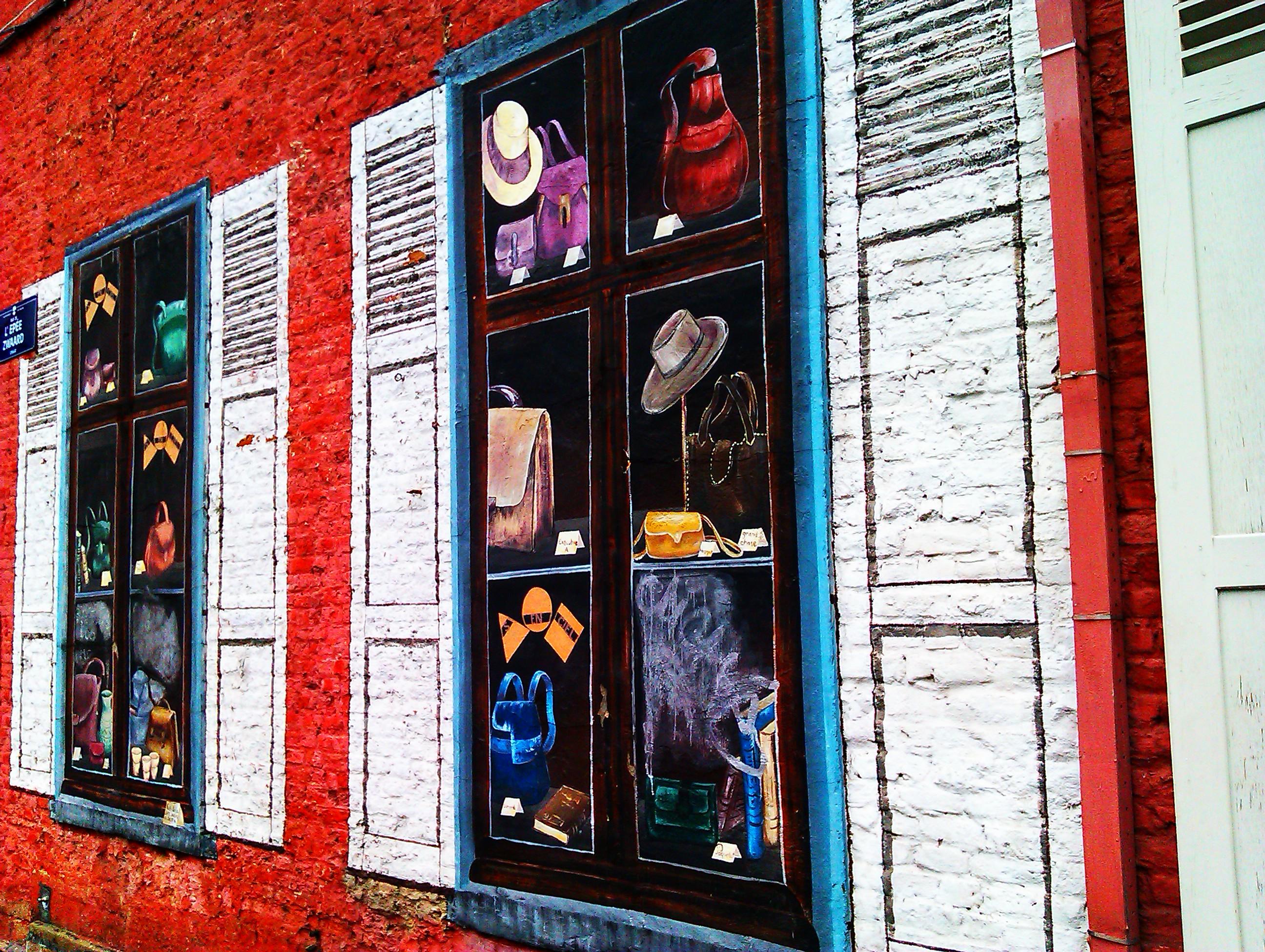 Pintor cambia muros por ventanas